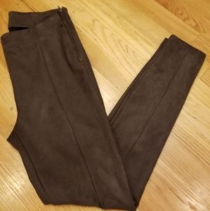NWOT- Faux Suede, Riding Style, Skinny Pants